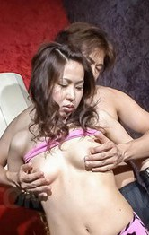Chie Inamori Asian with playful cans sucks strong dick so fine