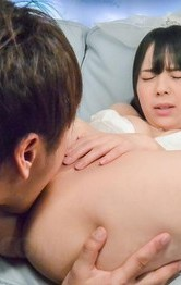 Ruka Kanae Asian with push ups is fucked under wedding lingerie