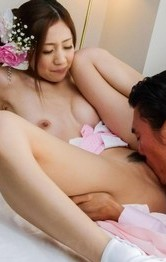 Kaori Maeda has nooky rubbed under geisha outfit and fucked after