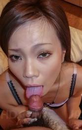 Sakiko Asian doll gives blowjob and fucks herself with vibrator